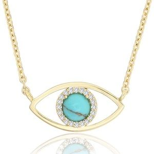 Jewelry - Evil eye necklace- gold chain - new